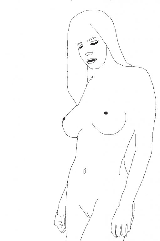 Line Drawing Nude 80
